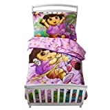Dora the Explorer and Boots 4pc Toddler Crib Bedding New