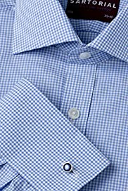 Sartorial Slim Fit Pure Cotton Gingham Checked Shirt