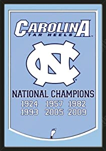 Dynasty Banner Of North Carolina Tar Heels With Team Color Double Matting-Framed... by Art and More, Davenport, IA
