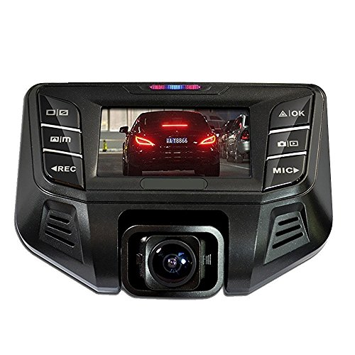 PowerLead Dash Cam Dual Camera 1080P Dual camera Front Camera 170¡ãBack Camera 120¡ãWide Angle Super Night Vision Mode HD Video 19201080 DVR