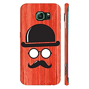 Samsung Galaxy Note5 Edge Movember Man designer mobile hard shell case by Enthopia