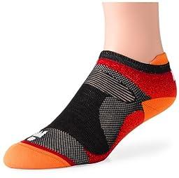 Wigwam Men\'s Ironman Flash Pro Low Cut Running Socks, Flame Orange, Large