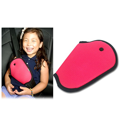Car Child Safety Cover Pink Color Harness Repositions Strap Adjuster Mash Pad Kids Seat Belt Seatbelt Clip Booster Adult Children Seat Belt Clips