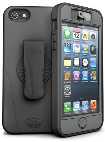 Best Price iSkin REVO5G-BK2 Revo 360 Silicone Case for iPhone 5 - Retail Packaging - Black