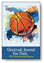 Basketball on Blue Background Gratitude Journal For Dads