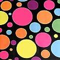 """Wachstuch Tischdecke Wachstischdecke Gartentischdecke, Abwaschbar Meterware, Länge wählbar, """"Colours and Spots"""" Schwarz Bunt (621-02) von MODERNO - Gartenmöbel von Du und Dein Garten"""