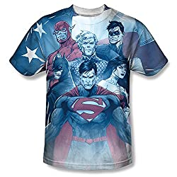 Justice League United All Over Print Front T-Shirt