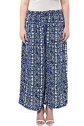 Alto Moda by Pantaloons Women's Comfort Fit Palazzo (205000005659550, Blue, Medium)