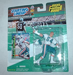 1999 Starting Lineup Zach Thomas Rookie Figure Miami Dolphins