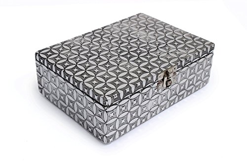 Gorgeously Handcrafted Wooden Multi Purpose Storage Box, 7 x 5 inches