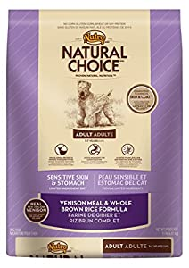 NATURAL CHOICE Sensitive Skin and Stomach Adult Venison Meal and Whole Brown Rice Formula - 15 lbs. (6.81 kg)