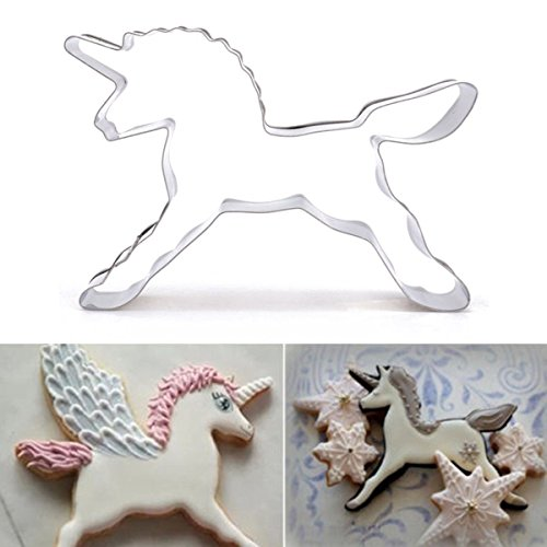 Ainest Stainless Steel Unicorn Horse Cookie Cutter Cake Biscuit Pastry Baking Mould (Oreo Cookie Pan compare prices)