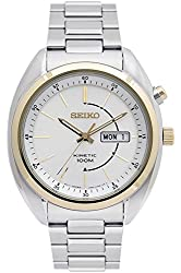 SEIKO SMY130P1,Men's Kinetic,Stainless Steel Case & Bracelet,Two Tones,100m WR,SMY130