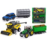 CLASSIC COUNTRY HARVESTER FARM PLAYSET TRACTOR HARVESTER TRAILER