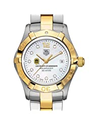 Ole Miss TAG Heuer Watch - Women's Two-Tone Aquaracer Watch with Diamond Dial