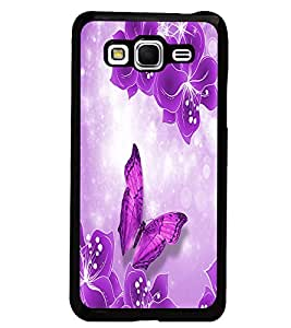 PrintDhaba Flowers and Butterfly D-1047 Back Case Cover for SAMSUNG GALAXY GRAND PRIME (Multi-Coloured)