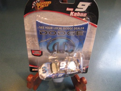 2006 Kasey Kahne #9 Dodge Charger Blue Mopar 1/64 Winners Circle & Bonus Matching Magnet Hood Edition