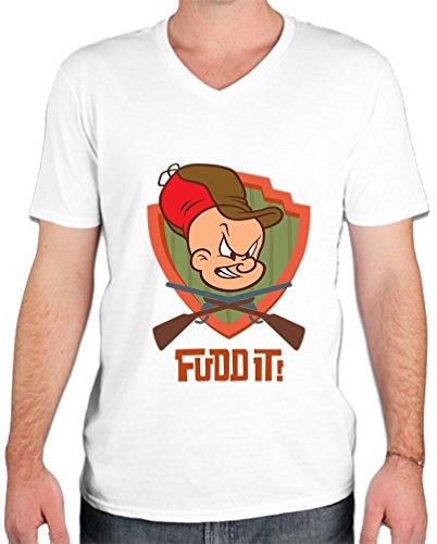 elmer-fudd-it-guns-crossed-funny-mens-v-neck-t-shirt-xx-large