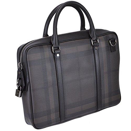 バーバリー BURBERRY ブリーフケース ビジネスバッグ メンズ ブラック 3873612-BLACK [並行輸入品]