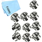 Fotasy SR10 Reducer Bushing Convert Screw Adapter with Premier Cleaning Cloth (Silver)