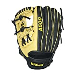 Wilson A500 Baseball Gloves, Black/Blonde, 11.5