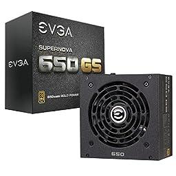 EVGA SuperNOVA 650 GS, 80+ GOLD 650W, Fully Modular, EVGA ECO Mode, 7 Year Warranty, Includes FREE Power On Self Tester, Power Supply 220-GS-0650-V1