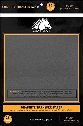 graphite transfer carbon paper 25 sheets 9 x 13 black