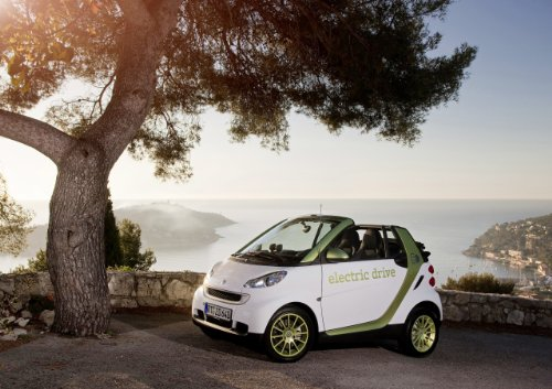 """Smart Fortwo Electric Drive (2010) Car Art Poster Print On 10 Mil Archival Satin Paper White Front Side Static View 16""""X12"""""""