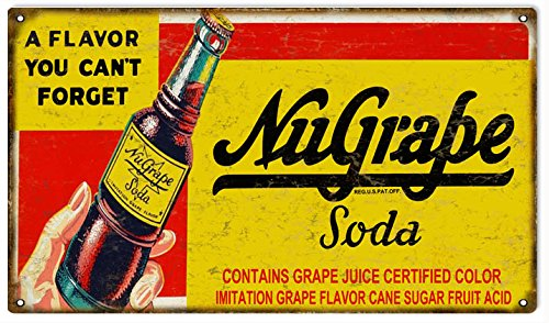 Reproduction Nu Grape Soda Country Advertisement Sign (Grape Soda Sign compare prices)