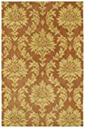 Brick Hand Tufted Brighton Rug: Soho Collection By Kaleen Rugs: 7'6