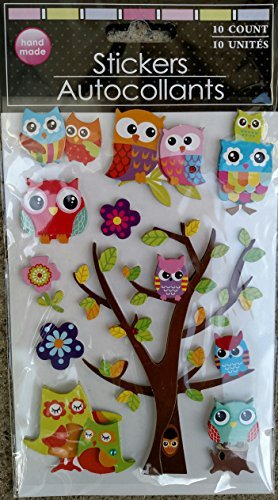Hand-made 3 Dimensional Stickers (Assorted, Styles & Quantities Vary)