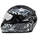 Akira 22404 Casco Moto Integrale Sapporo Decorato, Nero/Grigio/Grafica, L