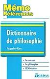 Mémo Références  Jacqueline Russ  Dictionnaire de Philosophie
