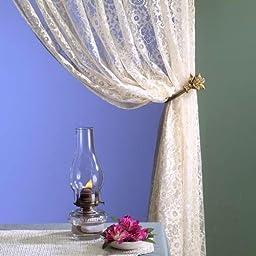Springmaid Flower Wrought-iron Curtain Holdbacks