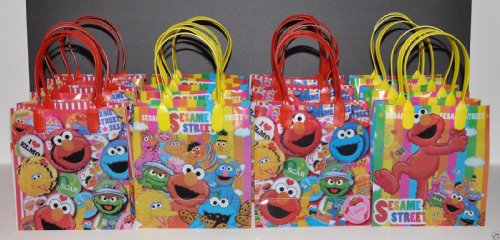 New Fashion 12 Pc Elmo Party Favors Giftbag Goody Candy Bag Favors Sesame Street Party Bags
