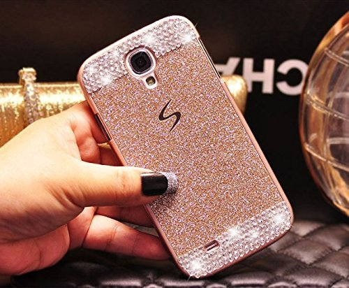 Galaxy S4 Case ,LA GO GO(TM) Beauty Luxury Diamond Hybrid Glitter Bling hard Shiny Sparkling with Crystal Rhinestone Cover Case for Samsung Galaxy S4 i9500 - Retail Packaging leopard print pattern protective plastic case w tail for samsung galaxy s4 i9500 black yellow
