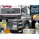 Pintura para Camiones MAN Concentrado NEGRO sedoso mate (Pintura desteñida en Camiones y Automoviles Metales y...