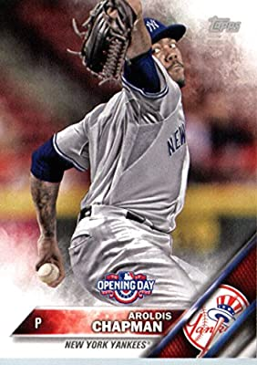 2016 Topps Opening Day #OD-197 Aroldis Chapman New York Yankees Baseball Card