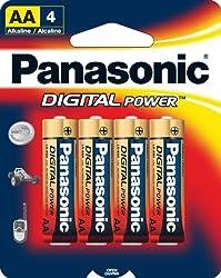 Panasonic Digital Power AA Alkaline Batteries - 4 Pack