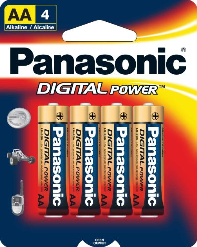 Panasonic Digital Power AA Alkaline Batteries - 4 Pack
