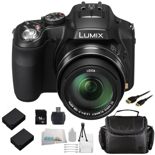 panasonic lumix fz200 digital camera with sse 16gb point import it all. Black Bedroom Furniture Sets. Home Design Ideas