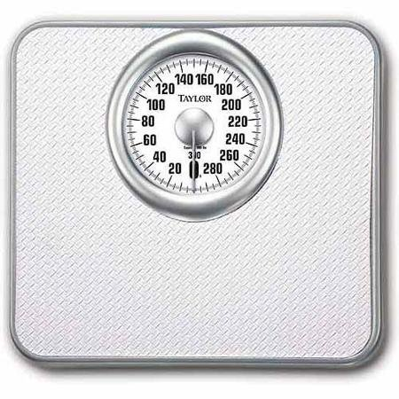 Taylor Mechanical Analog Bath Scale, White Model 4832 (Taylor Model 7506 compare prices)