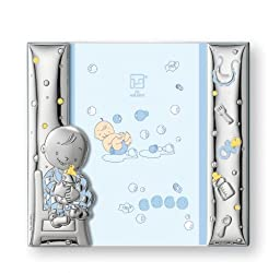Silver Touch USA Sterling Silver Picture Frame, Blue, 4\