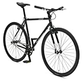 Retrospec Bicycles AMOK V2 CycloCross Convertible Single-Speed/Commuter Bike with Chromoly Frame, Matte Black, 58cm/Large