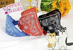 XINW est Pet Dog Cat Puppy Neckerchief Collar Scarves Adjustable Buckles Collar