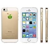 Highend berry iPhone 5 5s 2014年 モデル ストラップ ホール 保護キャップ 一体型 ソフト TPU ケース グリーンアップル