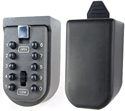INDOOR & OUTDOOR KEY SAFE STORAGE PUSH BUTTON COMBINATION WALL MOUNTED SECURITY LOCK - GREAT FOR NURSE/CARERS
