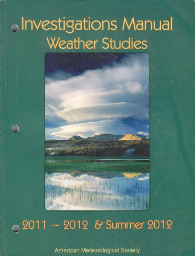 Investigations Manual Weather Studies