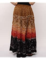 Soundarya Women Cotton Skirts -Multi -Free Size