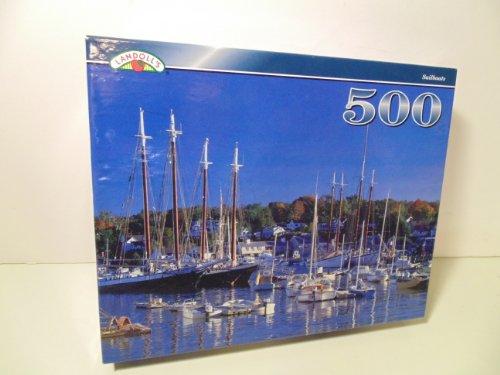 "Landolls 500 Piece Puzzle ""Sailboats"" - 1"